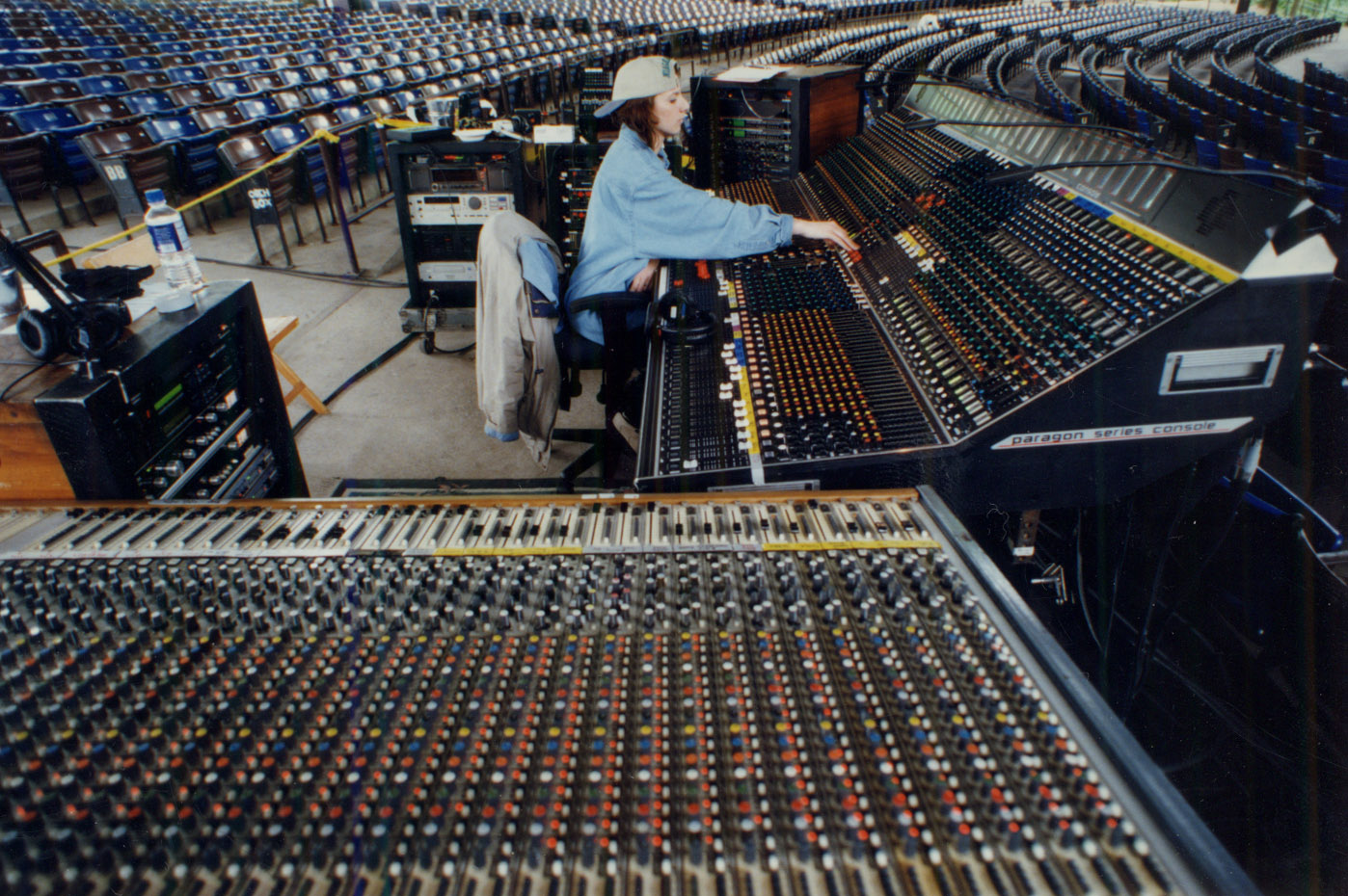 Mixing FOH for Indigo Girls in 1998