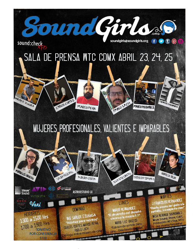 Mexico City - SoundGirls Mexico Chapter Conferences at ExpoSoundcheck 2017 @ WTC Mexico City (conference room)