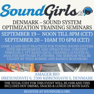 Denmark - Sound System Optimization Seminar @ Amager Bio | København | Denmark