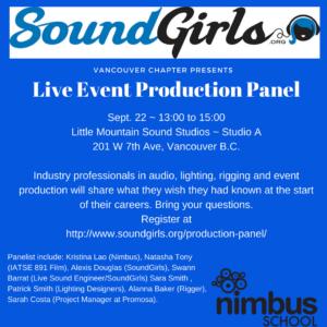 Vancouver - Live Event Production Panel @ Little Mountain Sound Studios ~ Studio A | Vancouver | British Columbia | Canada