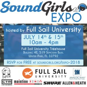 SoundGirls Expo 2018 @ Full Sail University | Winter Park | Florida | United States